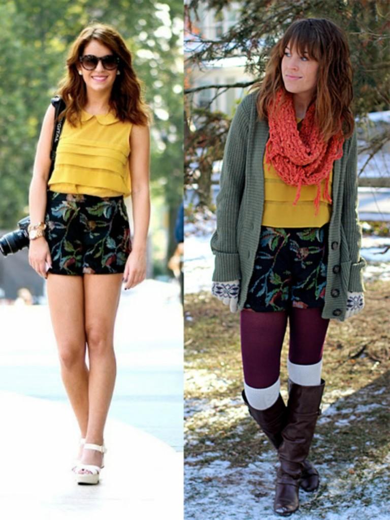 turning summer wardrobe into winter
